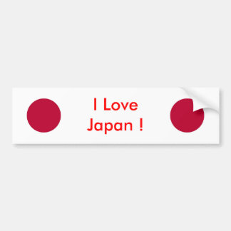 Sticker with Flag of Japan