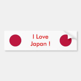 Sticker with Flag of Japan Bumper Sticker