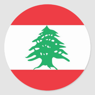 Sticker with Flag of Lebanon