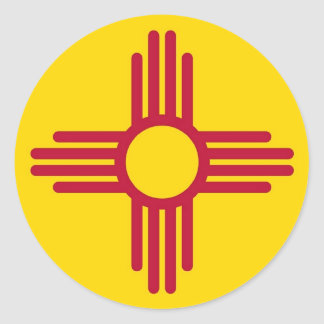 Sticker with Flag of New Mexico