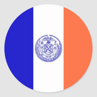 Sticker with Flag of New York City