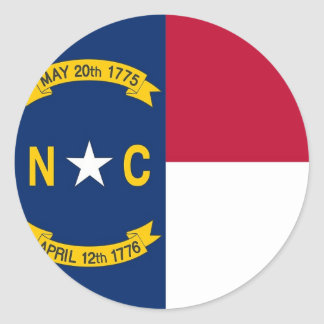 Sticker with Flag of North Carolina