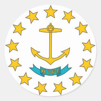 Sticker with Flag of Rhode Island
