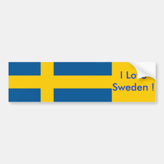 Sticker with Flag of Sweden Bumper Stickers