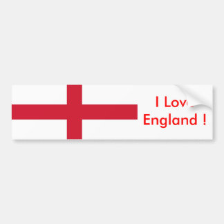 Sticker with Flag of the England Bumper Sticker
