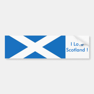 Sticker with Flag of the Scotland Bumper Sticker