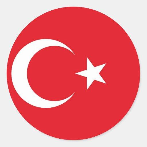 Sticker with Flag of Turkey