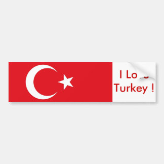 Sticker with Flag of Turkey Bumper Sticker