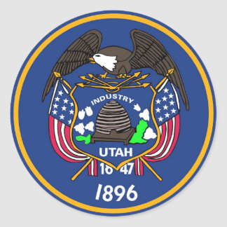 Sticker with Flag of Utah.