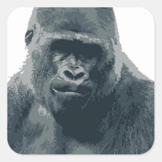 Sticker with Gorilla Face
