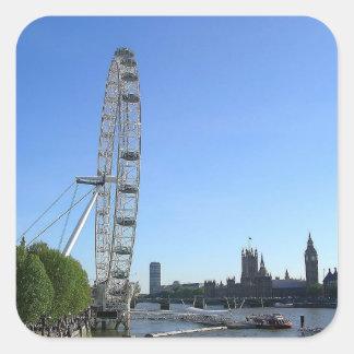 Sticker with London Eye Ferris Wheel