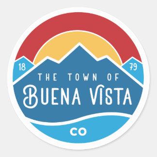 Sticker with round logo