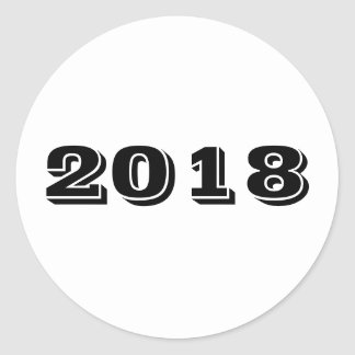 Sticker - Year 2018