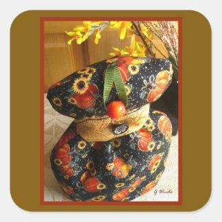 Stickers - Autumn Pumpkin and Sunflower Harvest