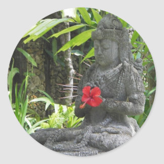 Stickers:  Bali Statue Classic Round Sticker