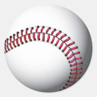 Stickers/Baseball Round Sticker
