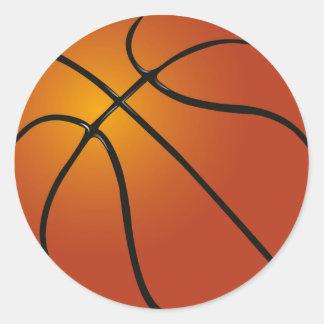 Stickers/Basketball Round Sticker
