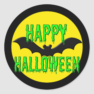 "Stickers - ""Batty"" Happy Halloween"