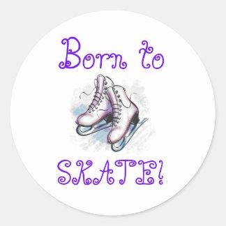 Stickers- Born To Skate! Round Sticker
