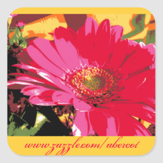 Stickers - Bright Rose Red Mum!