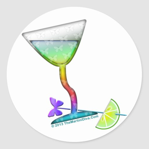 STICKERS - BUTTERFLY MARTINI