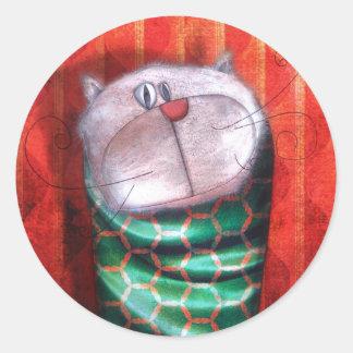 "Stickers ""Cat of evening """