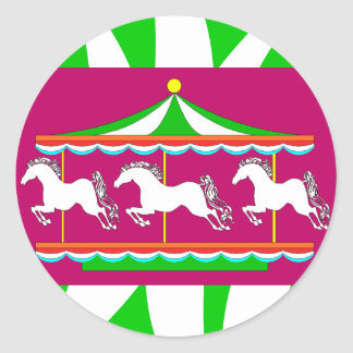 STICKERS Colorful Carousel Merry-Go-round Horses