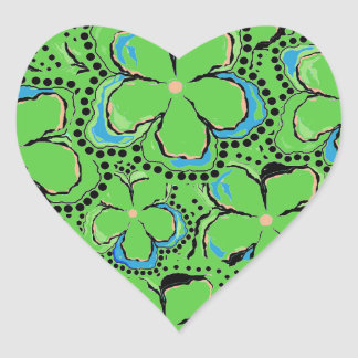 """Stickers """"Floral Heart"""" Green"""