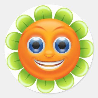 Stickers/Flower Round Sticker