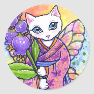 Stickers Geisha Cat Asian Fantasy by Ann Howard