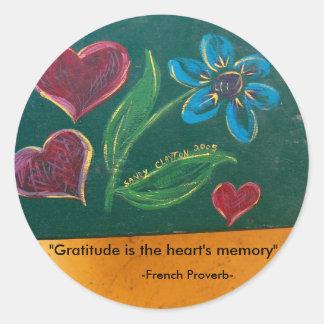 Stickers/Gratitude Classic Round Sticker