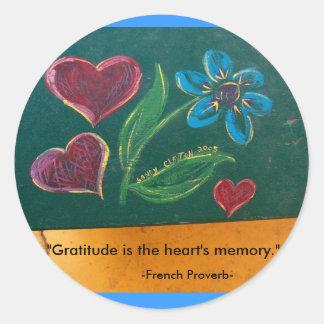Stickers/Gratitude Round Sticker