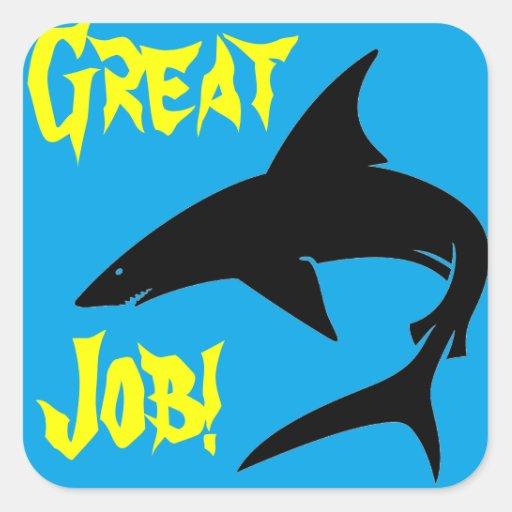 Stickers: Great Job Shark Stickers