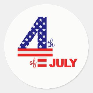 Stickers-July 4th Classic Round Sticker