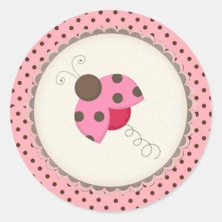Stickers/Lady bug Round Sticker