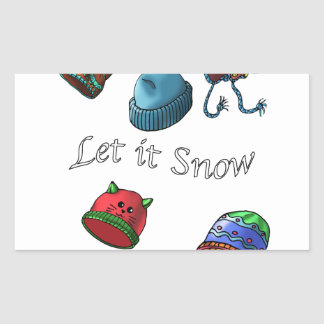 stickers, Let it snow Rectangular Sticker