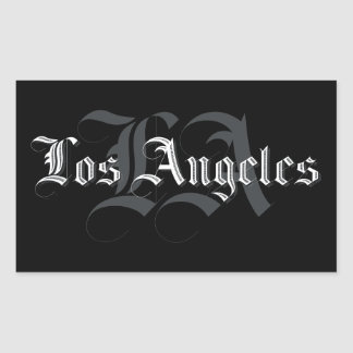 Stickers Los Angeles Blackletters