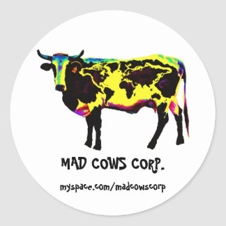 Stickers MAD COWS CORP. records, myspace.com/m...