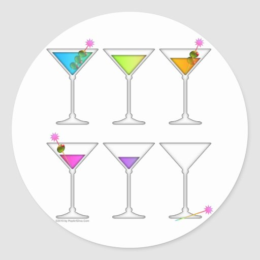 Stickers - Martinis Going, Going, GONE