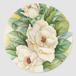 Stickers Of Magnolia Flowers Watercolor Art