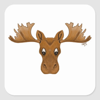 Stickers of moose,  cartoon drawing