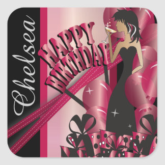 Stickers - Personalize Birthday - Ruby