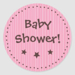 Stickers: Pink and chocolate - Baby shower!