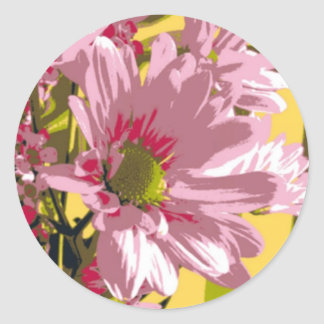 Stickers - Pink Mums