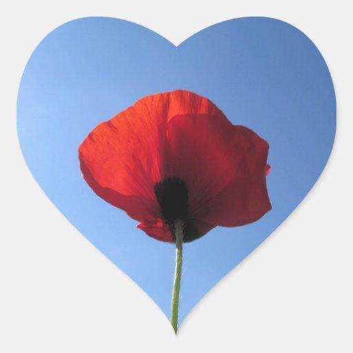 Stickers - Red Poppy Blue Sky