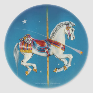 Stickers - Red, White and Blue Carousel Horse