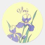 Stickers Round Dot Iris Personalised Custom Seals