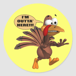 Stickers - Running For Cover Turkey