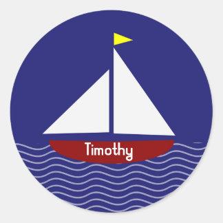 Stickers/Sailboat Round Sticker