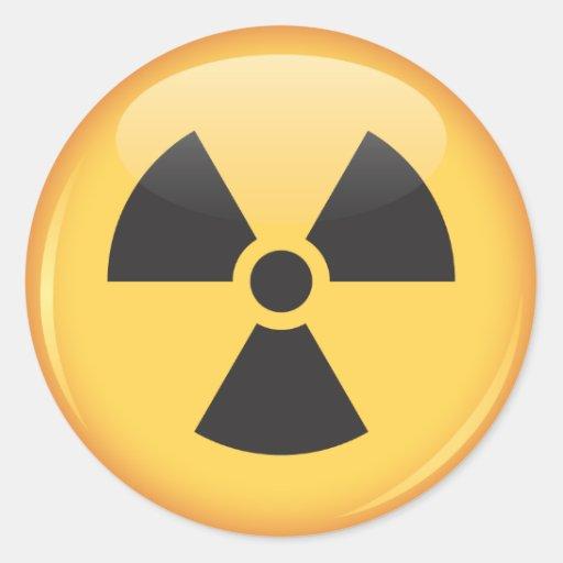 Stickers: shiny radiation symbol